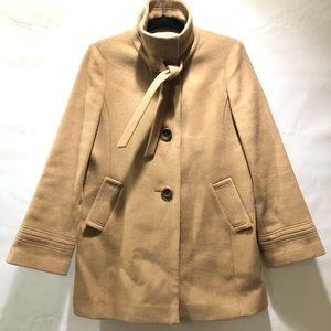 "Jcrew ""Carrie"" wool & cashmere tan coat Sz 10"